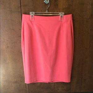 Plus Size Lane Bryant Pink Pencil Skirt